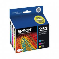 Genuine Epson T252520 Cyan / Magenta / Yellow Ink Cartridges
