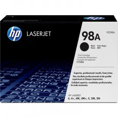 Hewlett Packard 92298A (98A) Black Toner Cartridge
