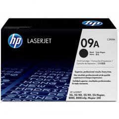 Hewlett Packard C3909A (09A) Black Toner Cartridge