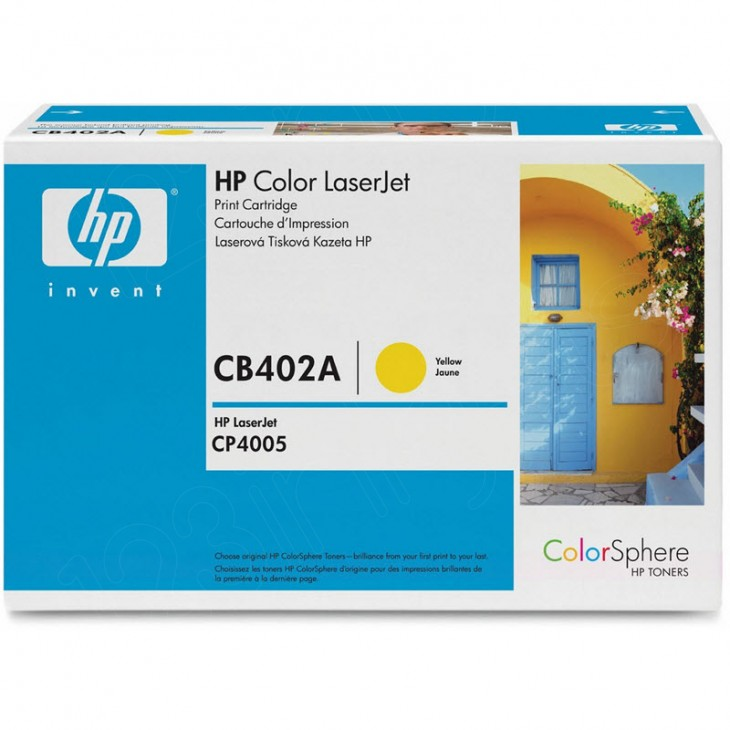 Hewlett Packard CB402A (642A) Yellow Toner Cartridge