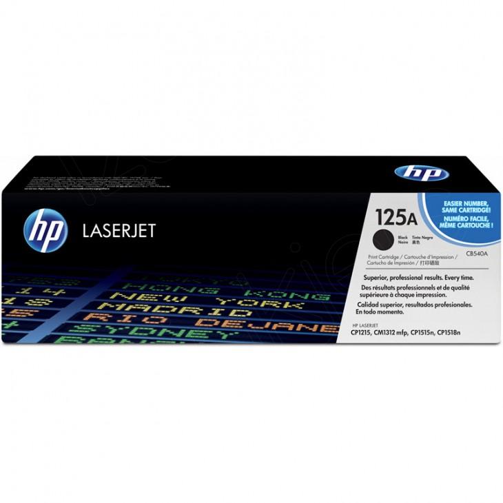 Hewlett Packard CB540A (125A) Black Toner Cartridge