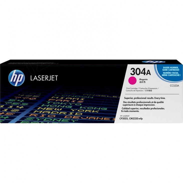 Hewlett Packard CC533A (304A) Magenta Toner Cartridge