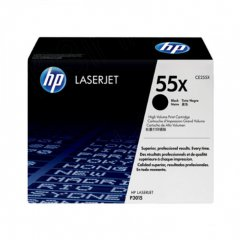 Hewlett Packard CE255X (55X) Black Toner Cartridge