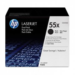 Hewlett Packard CE255XD (55X) Black Toner Cartridge