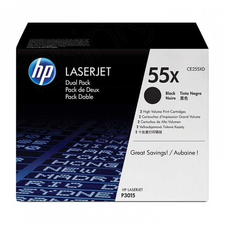 Hewlett Packard CE255XD (55X) Black Toner Cartridge