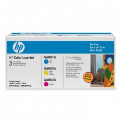 HP CE257A (124A) Cyan, Magenta & Yellow Toner Cartridge