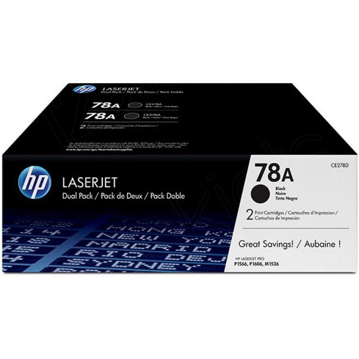 Hewlett Packard CE278D (78A) Black Toner Cartridge