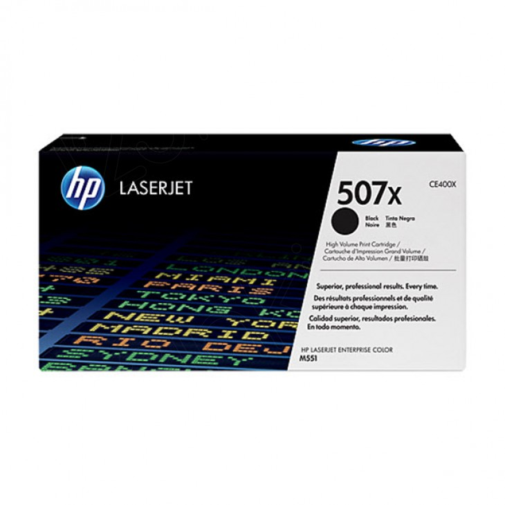 Hewlett Packard CE400X (507X) Black Toner Cartridge