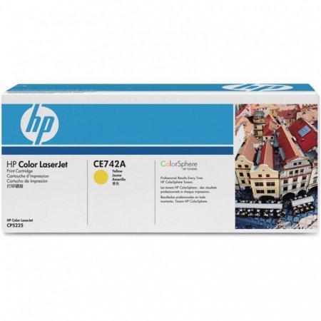 Hewlett Packard CE742A (307A) Yellow Toner Cartridge