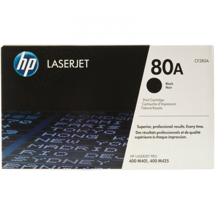 Hewlett Packard CF280A (80A) Black Toner Cartridge