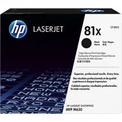 Hewlett Packard CF281X (81X) Black Toner Cartridge