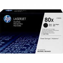 OEM HP CF280XD (80X) Toners, High Yield Black