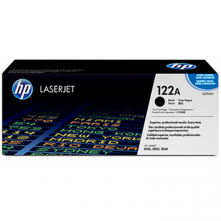 Hewlett Packard Q3960A (122A) Black Toner Cartridge