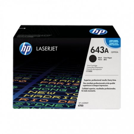 Hewlett Packard Q5950A (643A) Black Toner Cartridge
