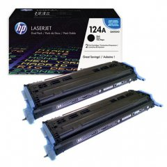 Hewlett Packard Q6000AD (124A) Black Toner Cartridge