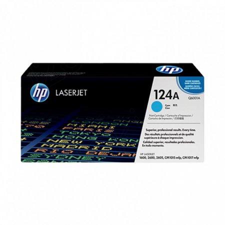 Hewlett Packard Q6001A (124A) Cyan Toner Cartridge