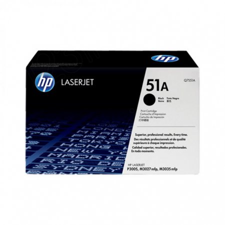 Hewlett Packard Q7551A (51A) Black Toner Cartridge