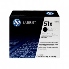 Hewlett Packard Q7551X (51X) Black Toner Cartridge