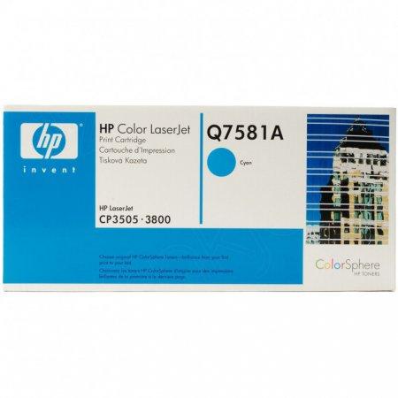 Hewlett Packard Q7581A (503A) Cyan Toner Cartridge