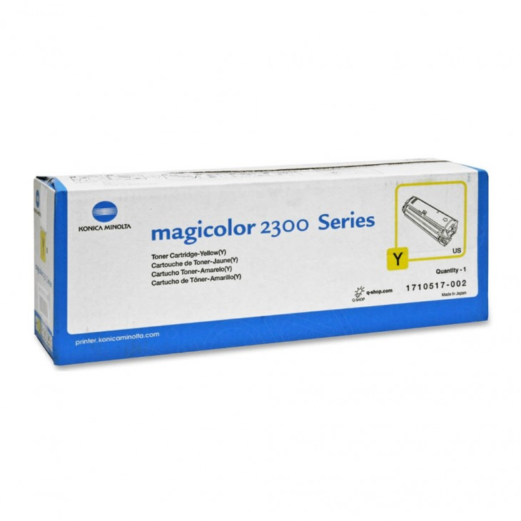 Konica Minolta 1710517-002 Yellow OEM Toner Cartridge