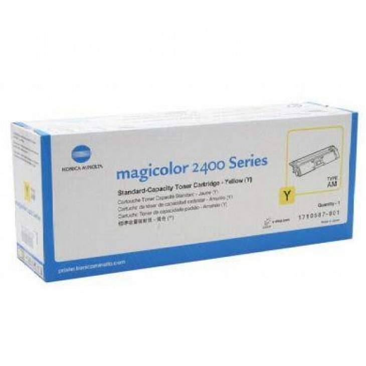 Konica Minolta 1710587-001 Yellow OEM Laser Toner Cartridge