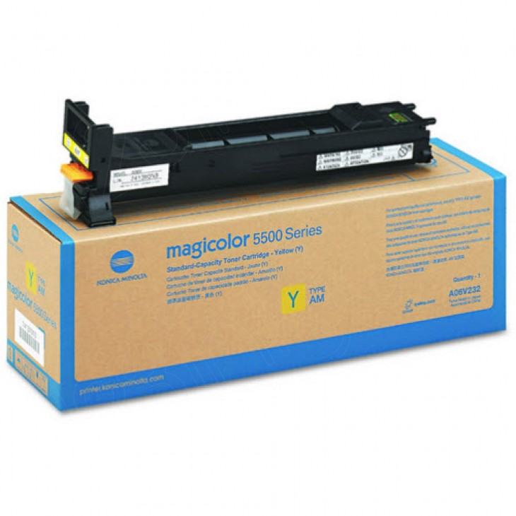 Konica Minolta A06V232 Yellow OEM Laser Toner Cartridge