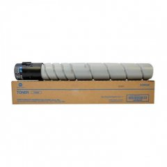 Konica-Minolta TN-322 black OEM toner cartridge.