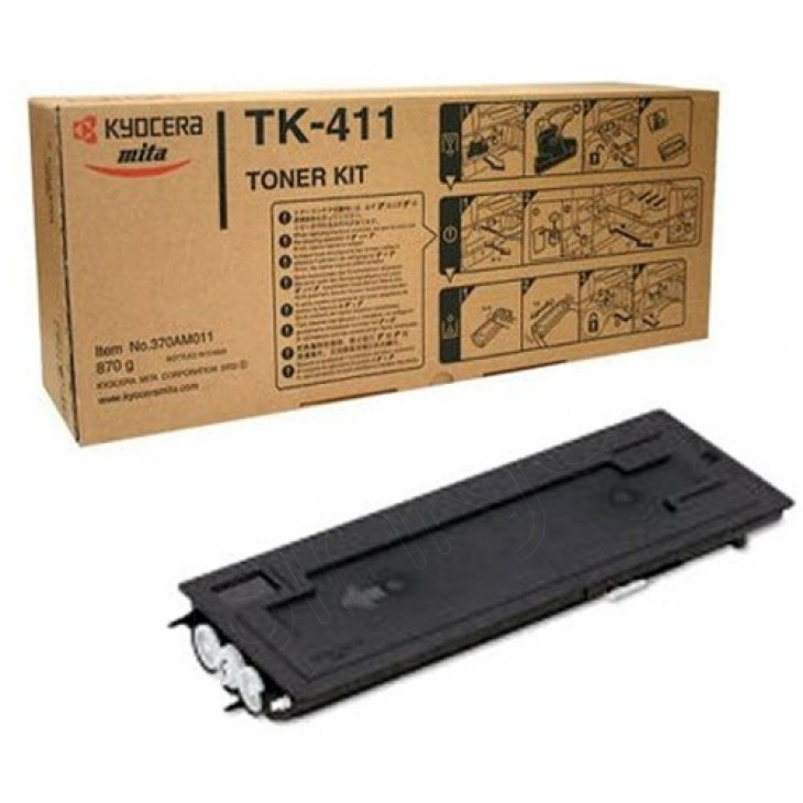 Kyocera Mita 370AM011 (TK-411) Black OEM Toner Cartridge