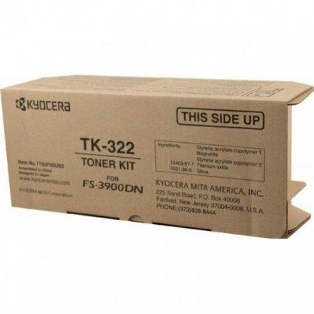 Kyocera-Mita TK-322 Black OEM Laser Toner Cartridge