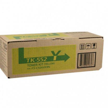 Kyocera-Mita TK-552Y Yellow OEM Laser Toner Cartridge