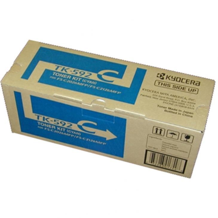 Kyocera Mita TK-592C Cyan OEM Laser Toner Cartridge