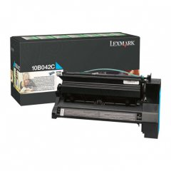 Lexmark 10B042C High-Yield Cyan OEM Laser Toner Cartridge