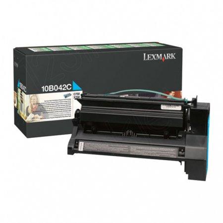 Lexmark 10B042C High-Yield Cyan OEM Laser Toner Cartridge