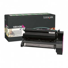 Lexmark 10B042M High-Yield Magenta OEM Toner Cartridge