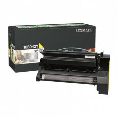 Lexmark 10B042Y High-Yield Yellow OEM Laser Toner Cartridge
