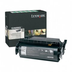 Lexmark 12A6865 High-Yield Black OEM Laser Toner Cartridge