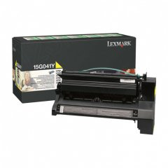 Lexmark 15G041Y Yellow OEM Laser Toner Cartridge
