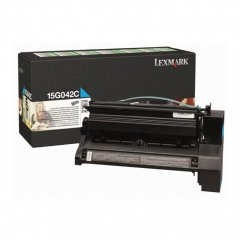 Lexmark 15G042C High-Yield Cyan OEM Laser Toner Cartridge