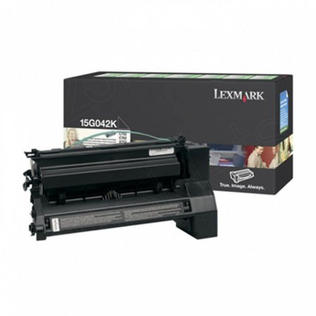 Lexmark 15G042K High-Yield Black OEM Laser Toner Cartridge