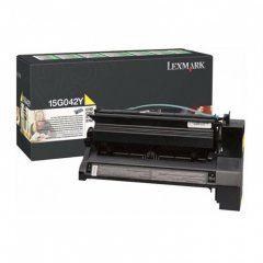 Lexmark 15G042Y High-Yield Yellow OEM Laser Toner Cartridge