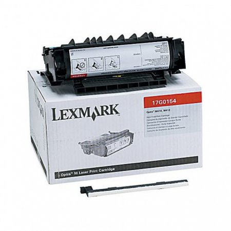 Lexmark 17G0154 High Yield Black OEM Laser Toner Cartridge