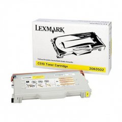 Lexmark 20K0502 Yellow OEM Laser Toner Cartridge