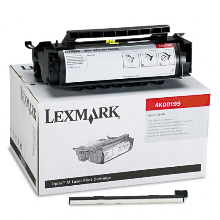 Lexmark 4K00199 High Yield Black OEM Laser Toner Cartridge