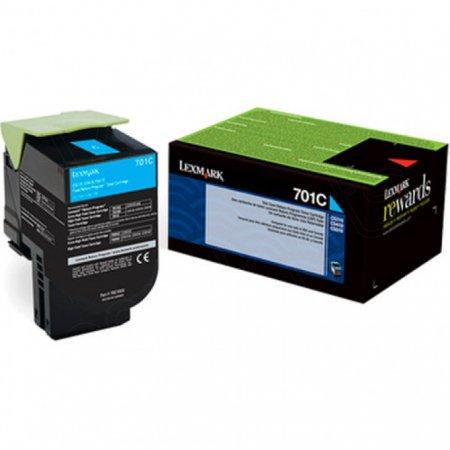 Genuine Lexmark 70C10C0 Cyan Laser Print Cartridge
