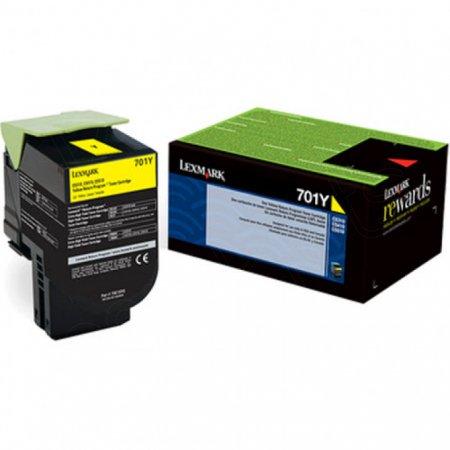 Genuine Lexmark 70C10Y0 Yellow Laser Print Cartridge