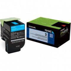 Lexmark 70C1HC0 (701HC) HY Cyan OEM Toner Cartridge