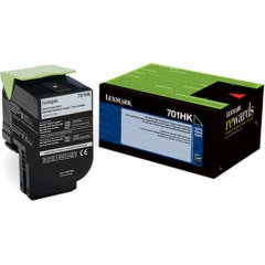 Lexmark 70C1HK0 (701HK) HY Black OEM Toner Cartridge