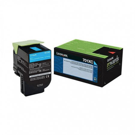 Lexmark 70C1XC0 EHY Cyan OEM Laser Toner Cartridge