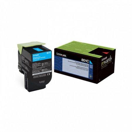 Lexmark 80C10C0 Cyan OEM Laser Toner Cartridge