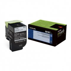Lexmark 80C10K0 Black OEM Laser Toner Cartridge
